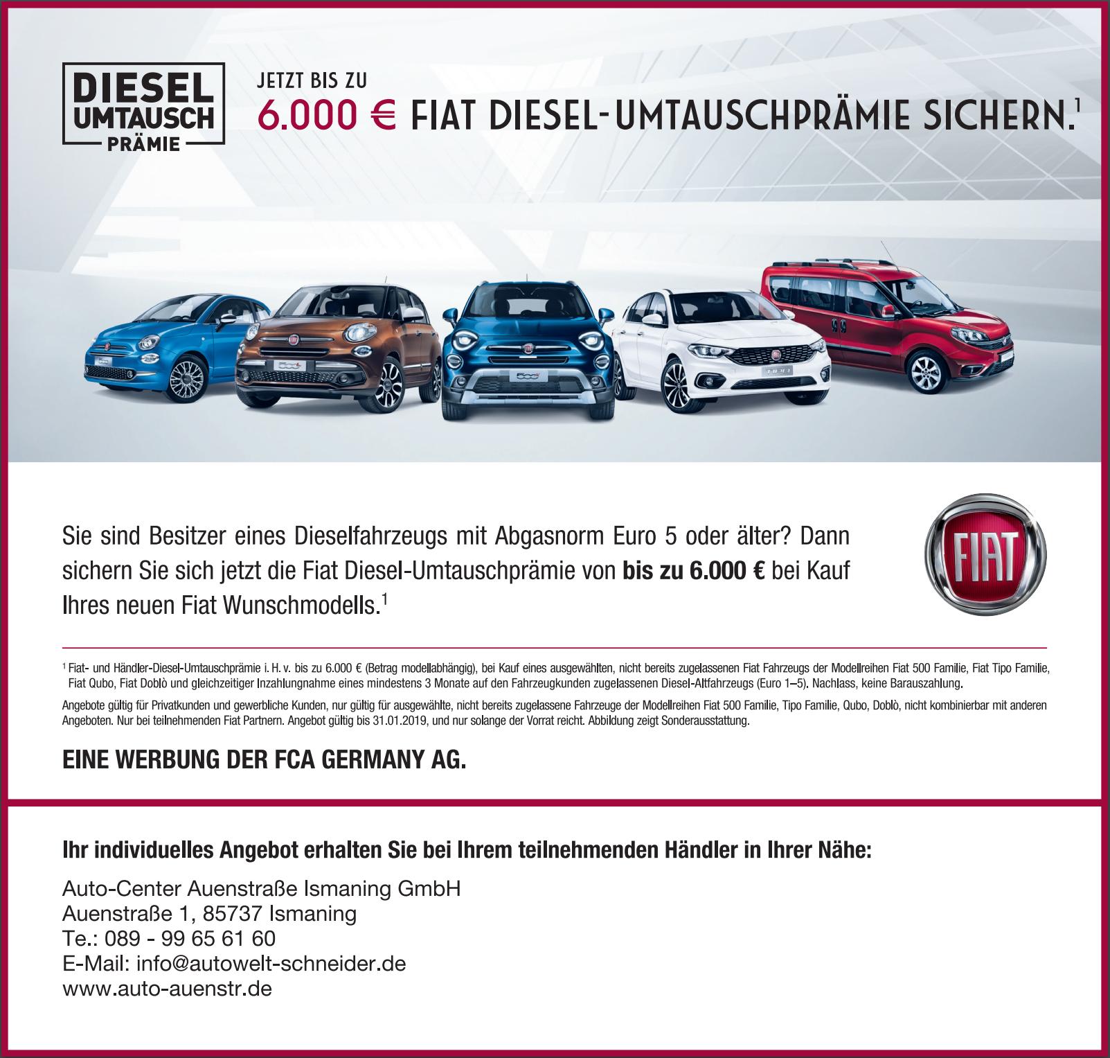 Fiat Diesel-Umtauschprämie sichern